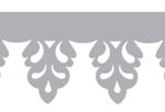 lambrequin gouttière hibiscus