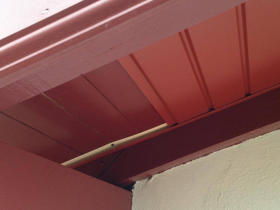 Les photos des chantiers alubest - Lambris pvc rouge ...
