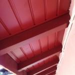 lambris sous face aluminium laqué rouge